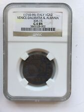 Italy-Venice-Dalmatia & Albania 1 Gaz (1710-95) KM-15  NGC G 4 BN