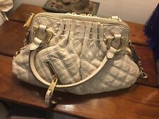 Exquisite Marc Jacobs Quilted Stam Calfskin Bag Handbag ivory $1395 RV