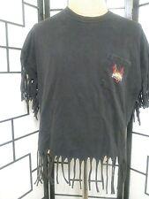harley davidson motor spoet tee shirt 2001 fringe