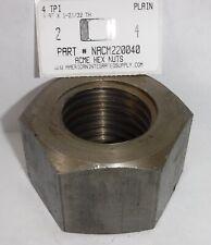 2 4 Acme Hex Nut Steel Plain 3 Hex X 1 3132 Thick 1