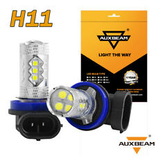 AUXBEAM H11 H9 H8 50W 16SMD 3030 Hi Power CREE LED Fog Light Driving Bulb Yellow
