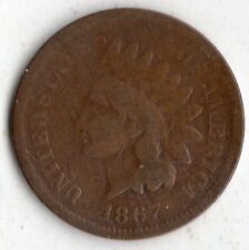 1867 INDIAN HEAD ONE CENT 1¢