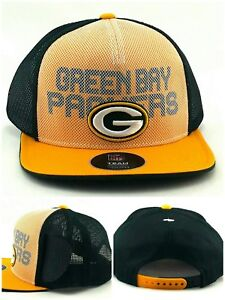 Green Bay Packers New Youth Kids Mesh Trucker Green Gold Era Snapback Hat Cap