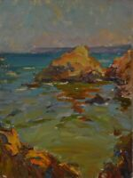 Original oil painting - seascape, original works of art. 15.7 x 11.8 inches