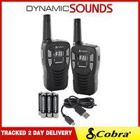 Cobra MT245 VP Walkie Talkie PMR446 Twin Pack Micro USB Charger & Batteries