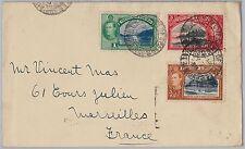 TRINIDAD & TOBAGO postal history - COVER to FRANCE 1938