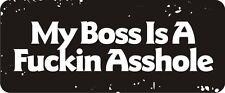 3 - My Boss Is A  Hard Hat Biker Helmet Sticker Bs409 3