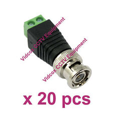 NEW 20pcs UTP RJ45 CAT5 CAT6 Cable to Male Coaxial BNC Connector for CCTV Camera
