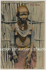 E Africa MASAI WOMEN w JEWELRY / FRAU m NACKTER BRUST * 10s Ethnic Nude PC