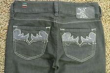 DIESEL LOUVE 89S Jeans 26X32  NWOT$200 Italian Leather! Sexy Flare Leg Dark Wash