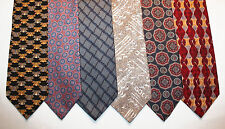 NEW Lot of 6 Designer Neck Ties with Patterns, Geoffrey Beene, Izod & more L006
