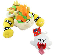 Super Mario Brothers Boo Ghost & Bowser King Koopa Plush Soft Game Doll Toy 2pc