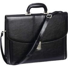Black Professional Business Briefcase, Womens Attache Case Men Laptop School Bag