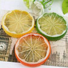 2/5pcs Artificial Lemon Slices Plastic Fake Fruit Home Wobble Plate Decor Prop