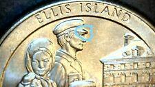 2017 P Ellis Island Quarter errors/die chip under man's cap. Read More!