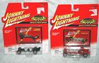 Lot of 2 Johnny Lightning Topper Series red Flame Out  green Dragster NOS 2000