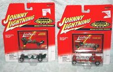 Lot of 2 Johnny Lightning Topper Series red Flame Out & green Dragster NOS 2000