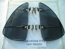 NEW PAIR OF SMOKE COLORED VINTAGE STYLE AIR VENT DEFLECTORS !