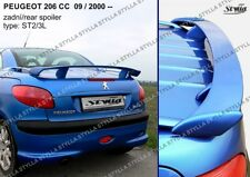 SPOILER REAR BOOT PEUGEOT 206 CC WING ACCESSORIES