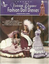 Victorian Elegance Fashion Doll Dresses Gowns Crochet Patterns Mary Layfield NEW