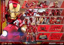 Hot Toys Iron Man Mark VII 7 1/6 Scale Diecast Figure Avengers Tony Stark New