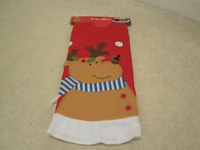 Felt Christmas tree skirt reindeer bird  48 inches new with tags holiday red