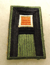WWII 1ST ARMY SIGNAL EMBROIDERED PAPER AND GLUE ON BACK CUT EDGE