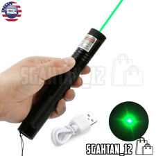 Green Laser Pointers Strong 100000m 532nm Usb High Power 303 Lazer Sd Burning
