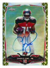 2014 TOPPS CHROME CHARLES SIMS RC CAMO REFRACTOR AUTO AUTOGRAPH BUCS #88/99