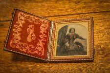 Antique - Pocket Photograph - Picture Frame - Victorian Woman - Rare