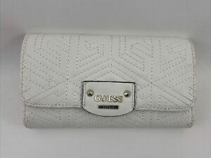 GUESS WOMENS CUBE WALLET PURSE FAUX LEATHER QUILTED NEW
