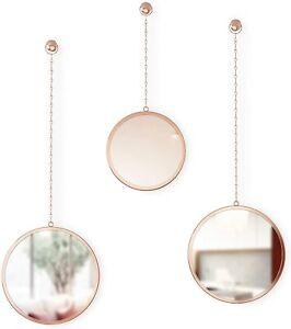 Umbra Dima Round Mirror, Copper Set of 3 (1013877-880)