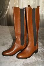 Hugo Boss Stiefel Gr. 37 Boots Reitstiefel Leder braun Selika-X NEU