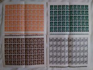 Belgium 1942 winterhulp Martin Mi# 614-623 full sheets 25 full sets see MNH**