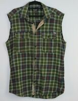 Jack & Jones Vintage Clth Co Men's Sleeveless Flannel Check Shirt Size L