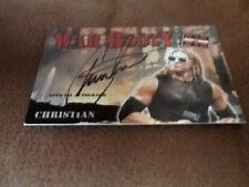 Fleer WWE WWF Raw Is War Raw Booty Autograph Auto Card Christian