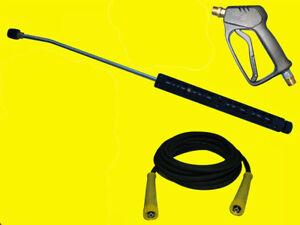 HD-Pistole + Strahlrohr 800 Lanze mit 10m Hochdruckschlauch für Kärcher HD HDS