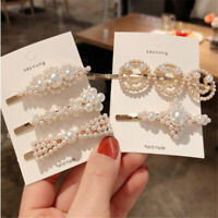 Lots Styles Women Pearl Hair Clip Hairband Comb Bobby Pin Barrette Headdress Hot