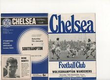 Chelsea home programmes (2) from the 60s