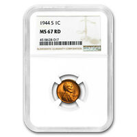 1944-S Lincoln Cent MS-67 NGC (Red) - SKU#175619