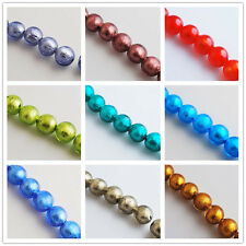 Hot Sale Silver Foil Inside Lampwrok Glass Round Spacer Beads 10mm 12 Color Pick