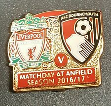 Liverpool v Bournemouth Match Day Badge at Anfield Season 2016 / 17