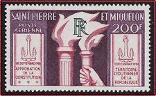 SAINT PIERRE ET MIQUELON PA N°26* Constitution, SPM 1959 MH