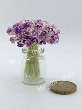 100 Purple Flower Paper Scrapbook Craft Mulberry Flowers Bouquet Wedding Doll 01