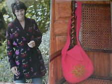 Belted Jacket and Felted Knit Bag Knitting Pattern Magazine Extract