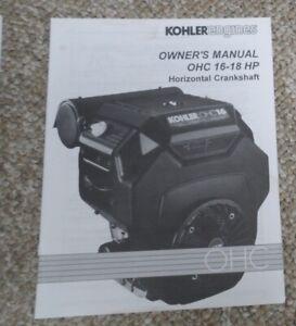 Kohler Engines OHC 16 - 18 HP Horizontal Crankshaft Owner's Manual
