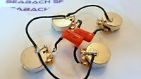 Premium Upgrade Pre-Wired Wiring Harness Kit with CTS short Shafts for Les Paul