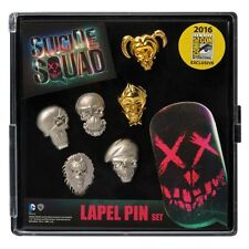 Suicide Squad Faces Pin Set SDCC 2016 Pewter 6-Pack Set Exclusive