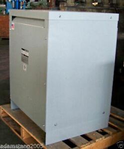 Square D 30kva Transformer 3 Phase 480v-208v/120v Delta Wye 460v 440v 230v 2583