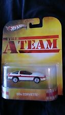 2013 HOT WHEELS A TEAM TV MOVIE CHEVY CORVETTE REAL RIDER RIDERS RUBBER TIRES